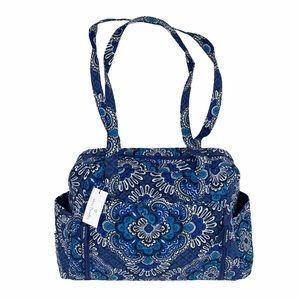 Vera Bradley Baby Bag, Blue Tapestry, Blue, white
